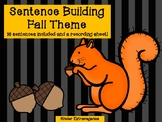 Sentence Building Fall Theme