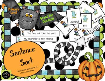Sentence Building: Fall Themed