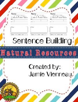 Natural Resouces Sentence Building Freebie!!
