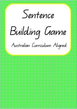 Sentence Building Game- Australian Curriculum Aligned