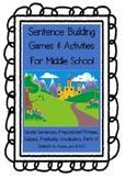 Sentence Building Games & Activities for Middle School - Castle Theme