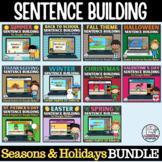 Sentence Building Growing Bundle Digital Writing Activities