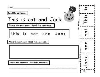 Sentence Building - Halloween Edition