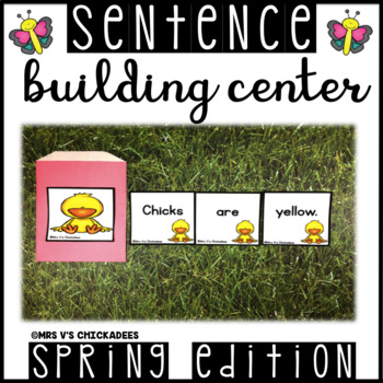Sentence Building Hands on Center: Creating & Writing Comp
