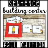 Sentence Building Hands on Center: Creating & Writing Complete Sentences