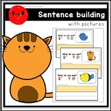 """Sentence Building """"I see a ____."""" (animal series)"""