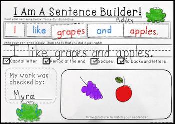Sentence Building Kit 2 Interactive Literacy