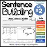 Sentence Building Kit 2 (70 pgs) Whimsy Workshop Teaching