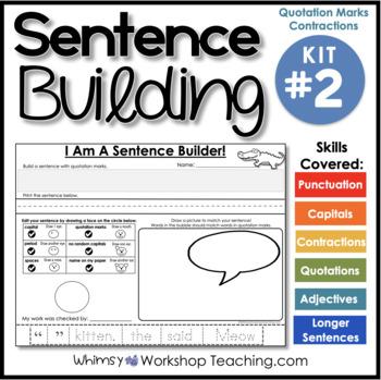 Sentence Building Kit 2 (70 pgs) Whimsy Workshop Teaching