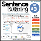 Sentence Building Kit 3 (70 pgs) Whimsy Workshop Teaching