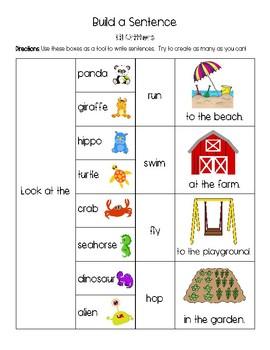 Sentence Building - New Version!