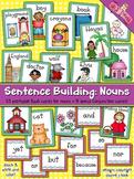 Sentence Building: Nouns Flash Cards
