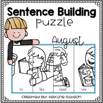 Sentence Building Puzzle August