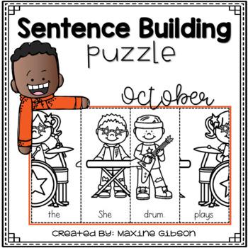 Sentence Building Puzzle October
