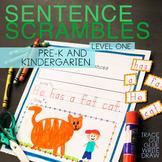 Sentence Building SENTENCE SCRAMBLE cut and paste SIGHT WORDS CVC word families