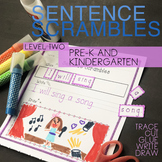 Sentence Building SENTENCE SCRAMBLE cut and paste CVC word sight words Level 2