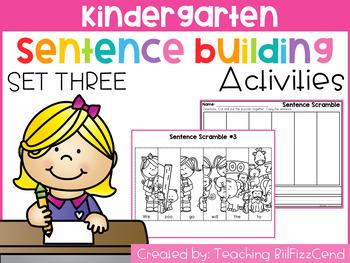 Kindergarten Sentence Building (Set 3)