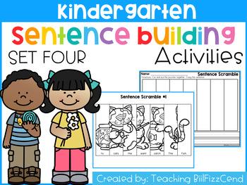 Kindergarten Sentence Building (Set 4)