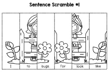 Sentence Building (Spring Edition)