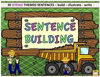 Sentence Building - Spring Theme