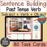 Sentence Building Subject + Past Tense Verb + Object Real Pictures BOOM Cards