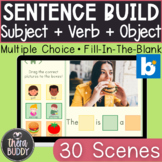 Sentence Building: Subject + Verb + Object BOOM Cards™️