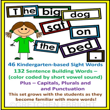 Sentence Building Task Cards Sight Words Capitals