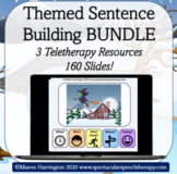 Sentence Building Themed Bundle! A Teletherapy Resource