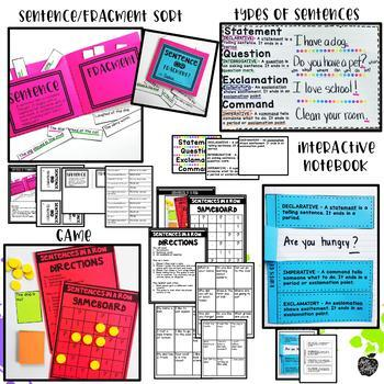 Sentence Building, Types of Sentences, Punctuation {Hands-on Reading}