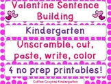 Valentine's Day Sentence Building