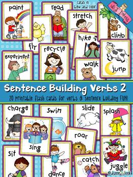 Sentence Building: Verbs Flash Cards 2