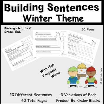 Sentence Building - Winter Edition