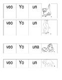 Sentence Building Worksheet in Spanish