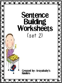 Sentence Building Worksheets #2