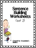 Sentence Building Worksheets #2