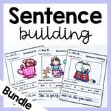 Sentence Building Worksheets BUNDLE Set 1 and 2