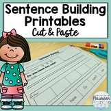 Sentence Building Worksheets