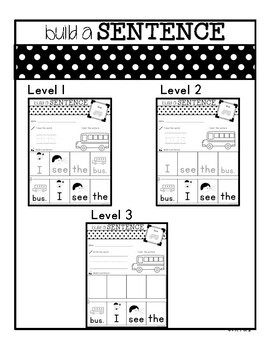sentence building worksheets for special ed classrooms sports tpt. Black Bedroom Furniture Sets. Home Design Ideas