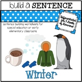 Sentence Building Worksheets for Special Education Classrooms: Winter