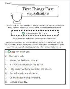 Sentence Building - a guide to building good sentences