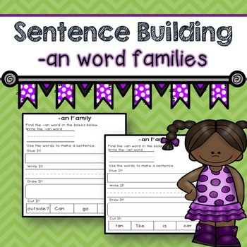Word Family -an words (Sentence Building)
