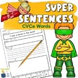 Sentence Building and Writing Sentences Worksheets | CVCe
