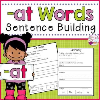 Sentence Building -at Family CVC Words
