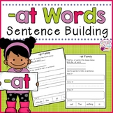 Sentence Building -at Family CVC Words