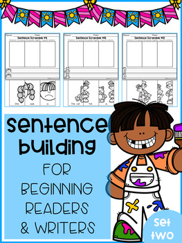 Sentence Building for Beginning Readers & Writers (SET 2)