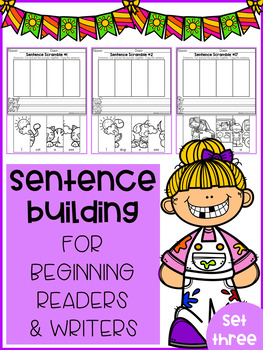 Sentence Building for Beginning Readers & Writers (SET 3)