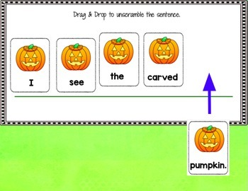 GOOGLE CLASSROOM READING Sentence Building Paperless Activities