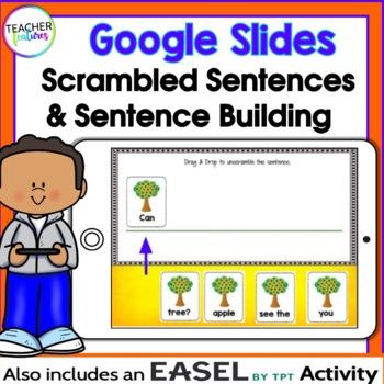 Google Classroom Sentence Building & Scrambled Sentences