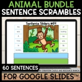 Sentence Building for Google Slides™: Animals in Their Habitats