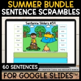 Sentence Building for Google Slides™: Camping Trip